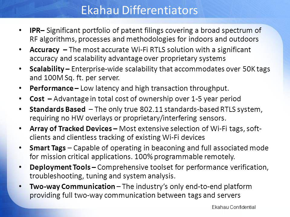 Ekahau Differentiators