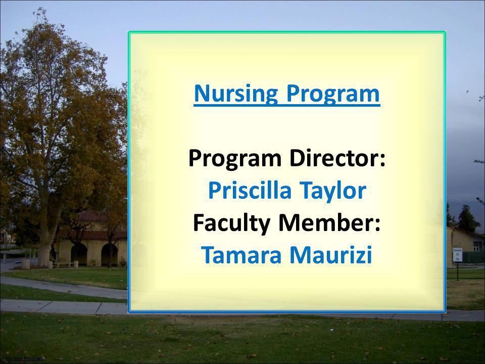 Program Director: Priscilla Taylor