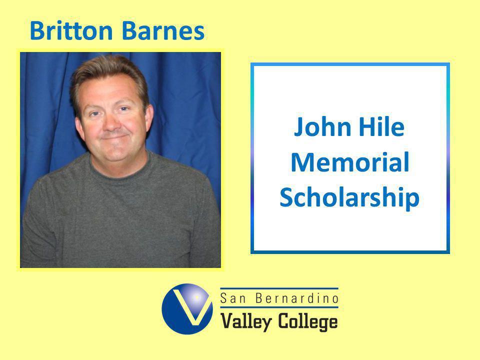 John Hile Memorial Scholarship