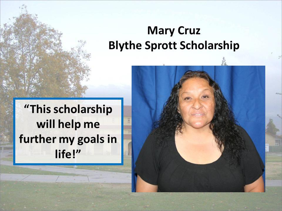 This scholarship will help me further my goals in life!