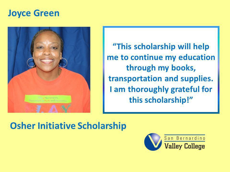 Osher Initiative Scholarship