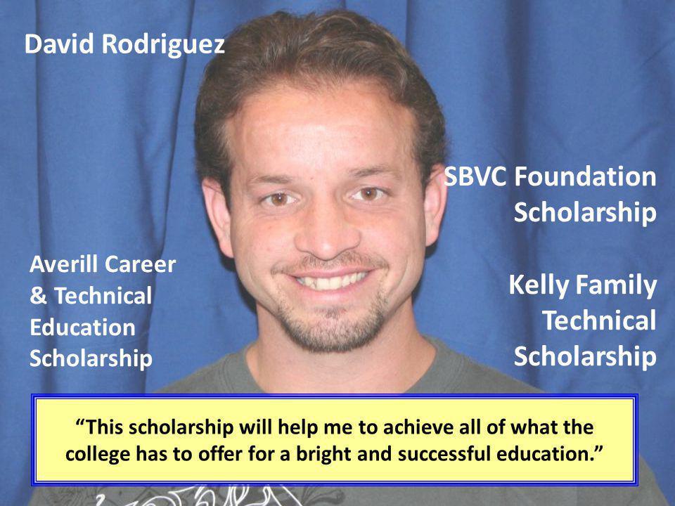 SBVC Foundation Scholarship Kelly Family Technical Scholarship