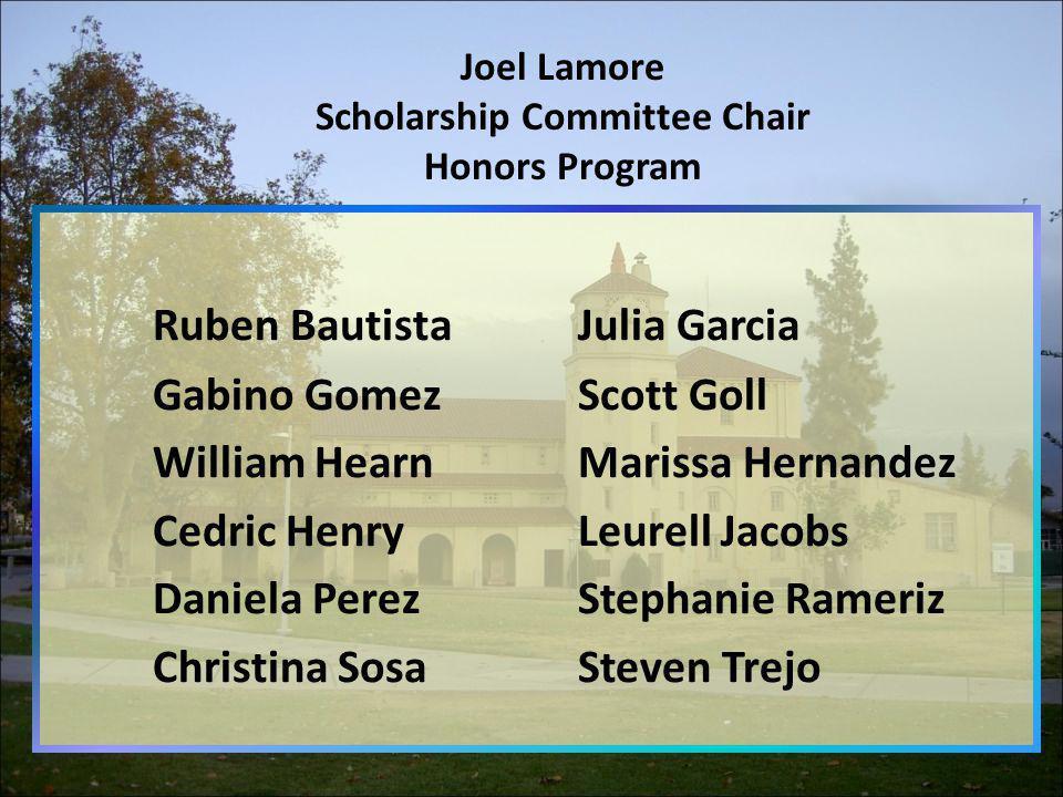Joel Lamore Scholarship Committee Chair Honors Program