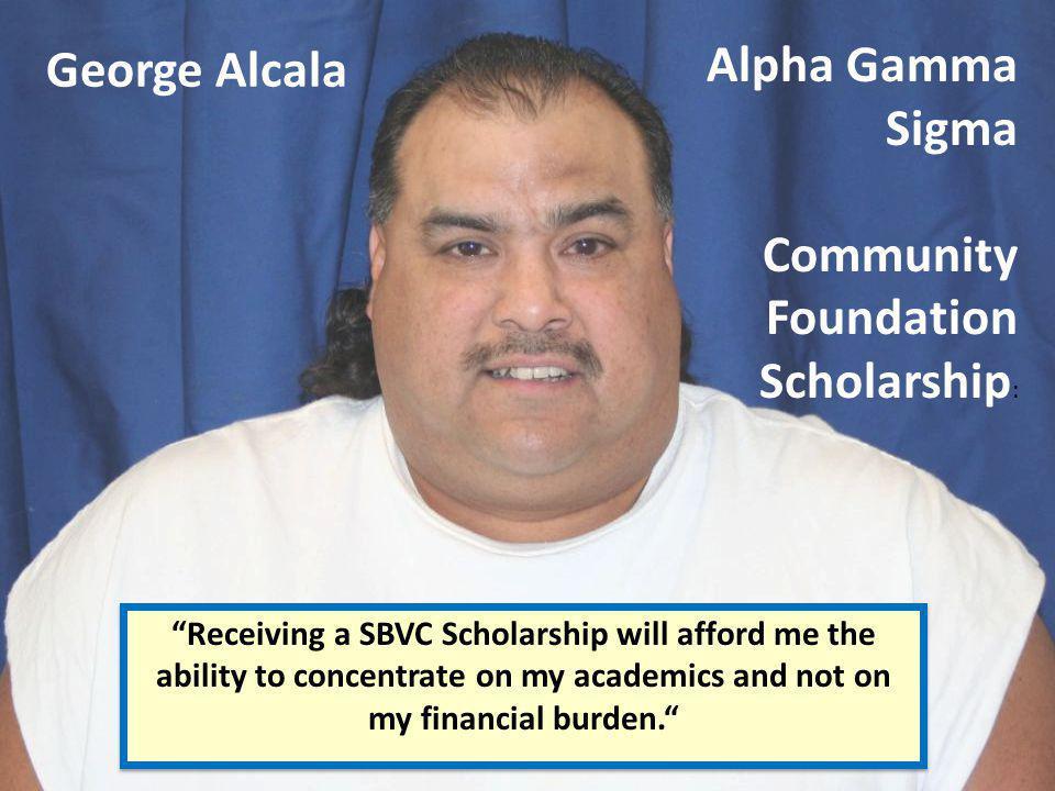 Community Foundation Scholarship: