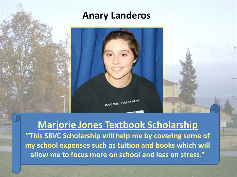 Marjorie Jones Textbook Scholarship