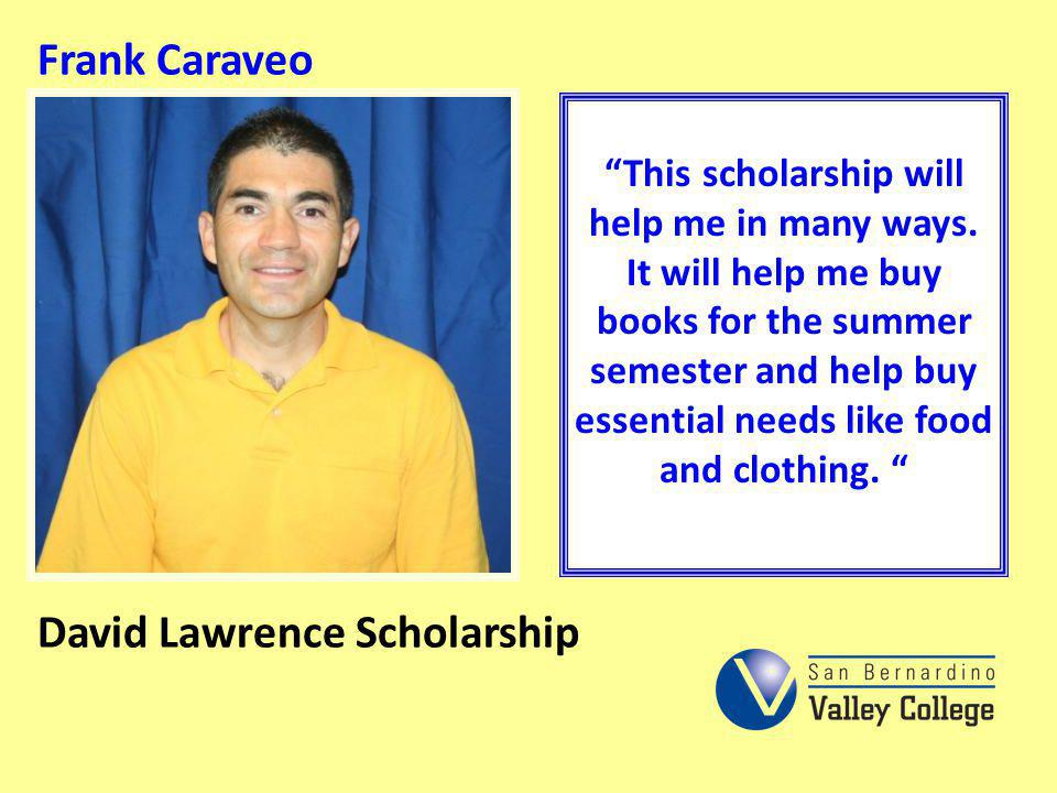 David Lawrence Scholarship