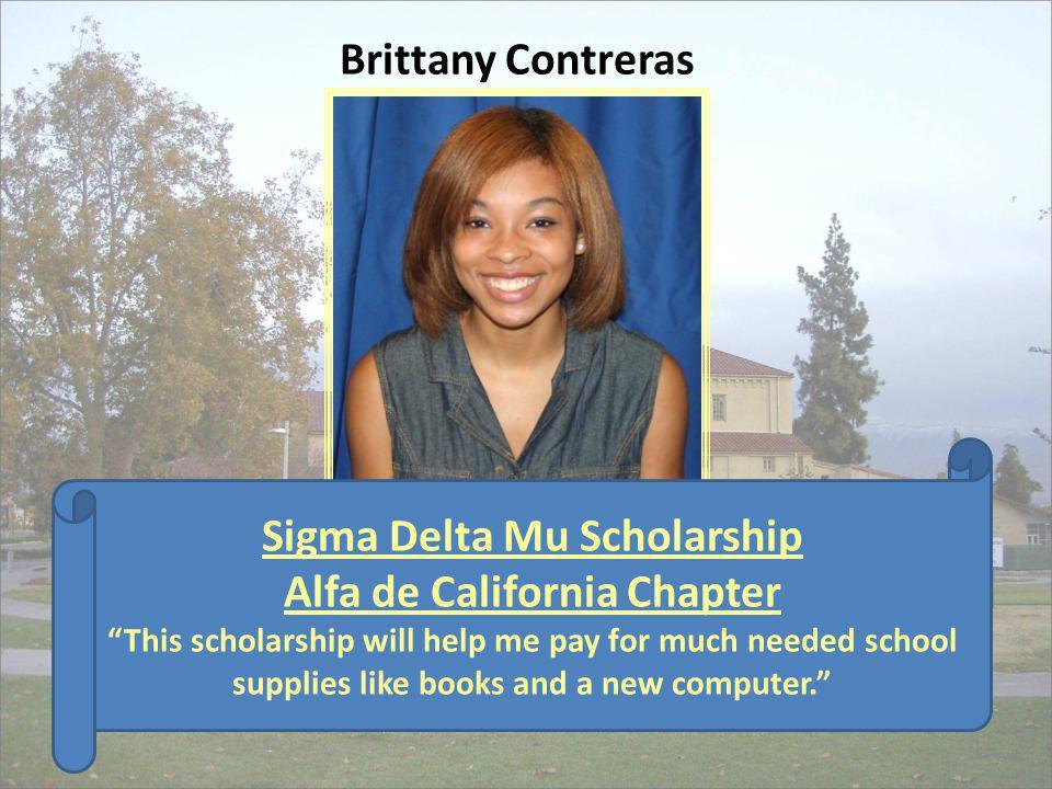 Sigma Delta Mu Scholarship Alfa de California Chapter