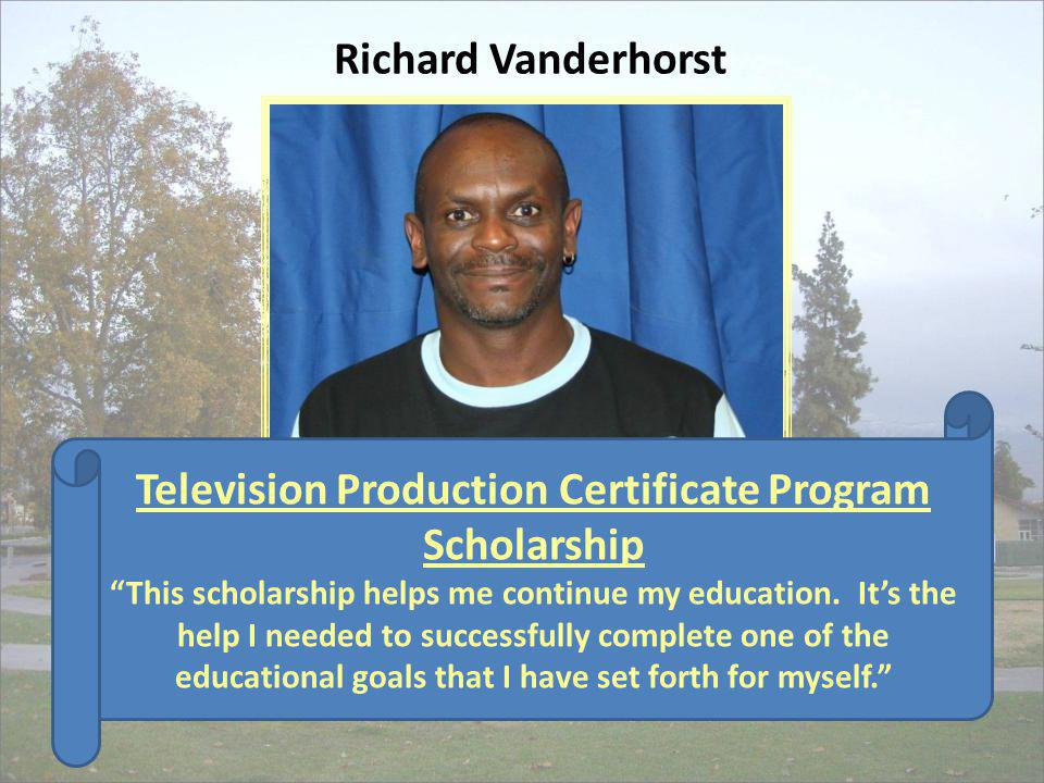 Television Production Certificate Program Scholarship