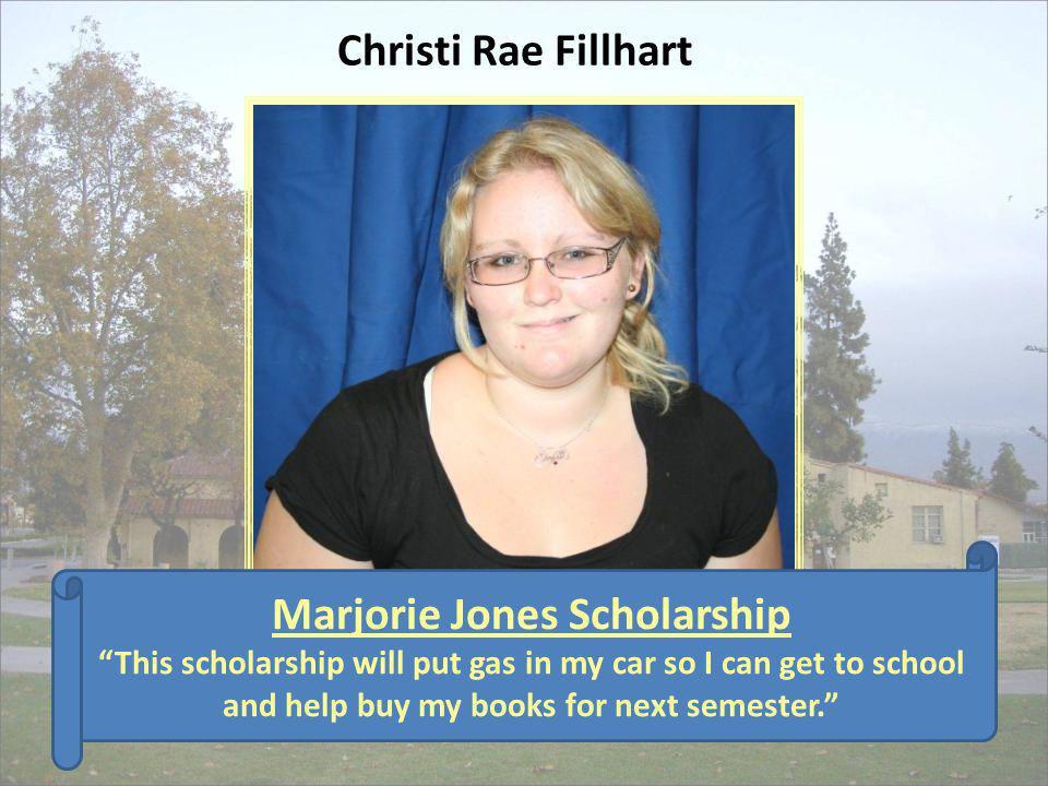 Marjorie Jones Scholarship