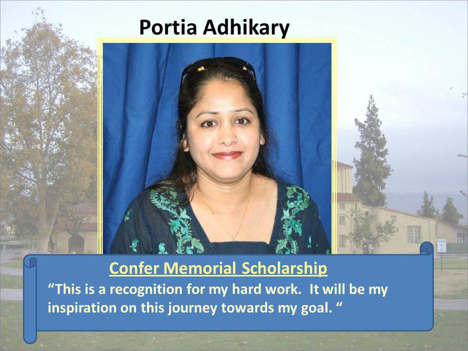 Confer Memorial Scholarship