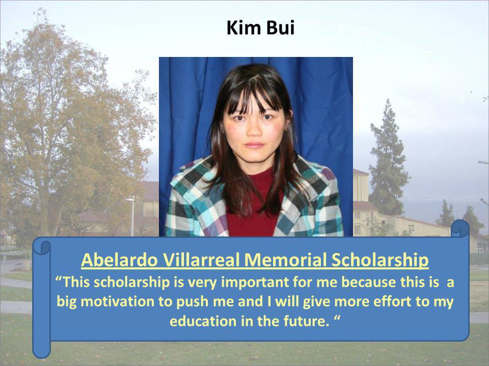 Abelardo Villarreal Memorial Scholarship
