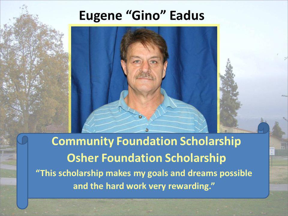 Community Foundation Scholarship Osher Foundation Scholarship