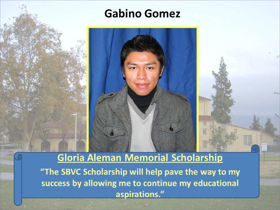 Gloria Aleman Memorial Scholarship