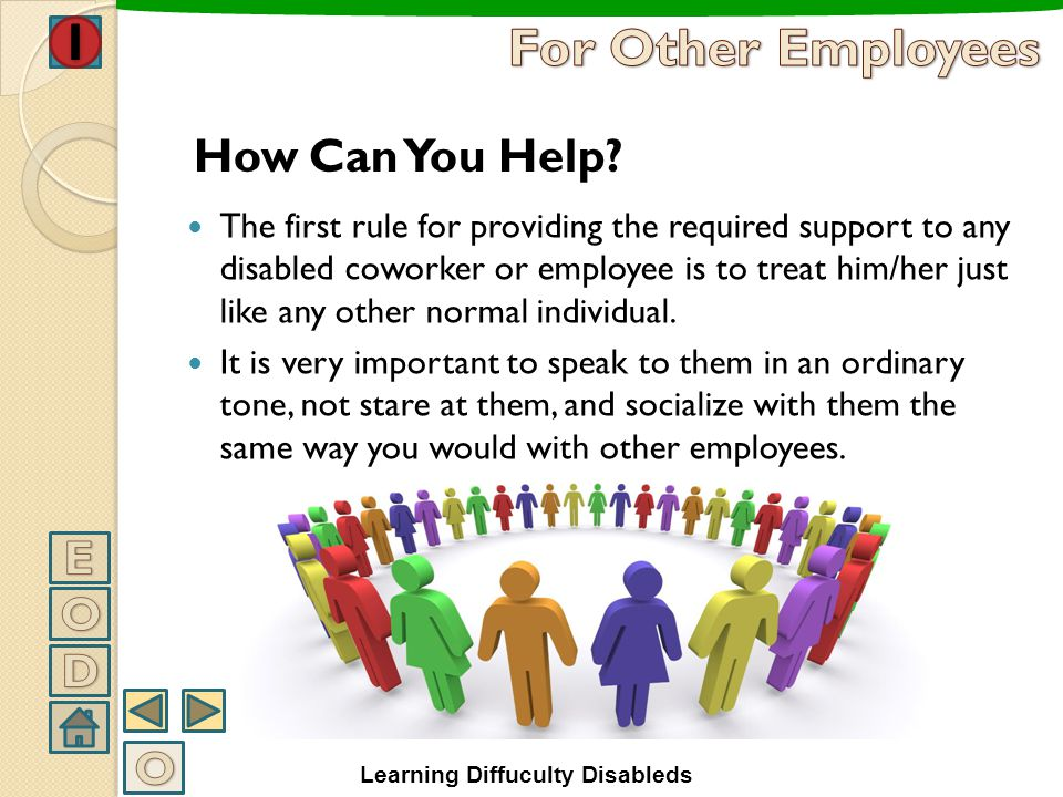 For Other Employees How Can You Help E O D O