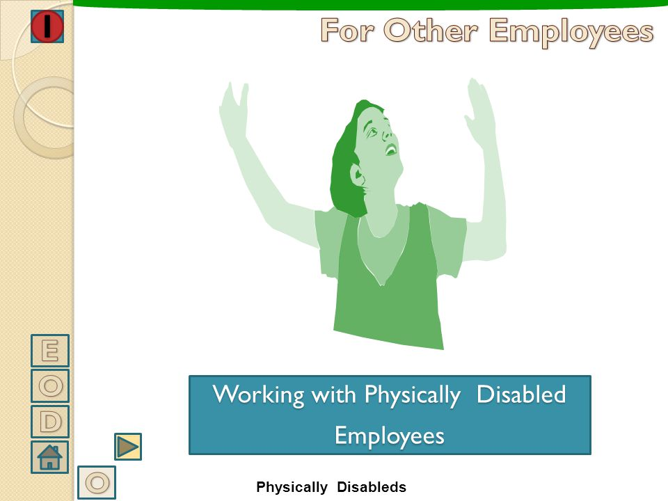 Working with Physically Disabled Employees