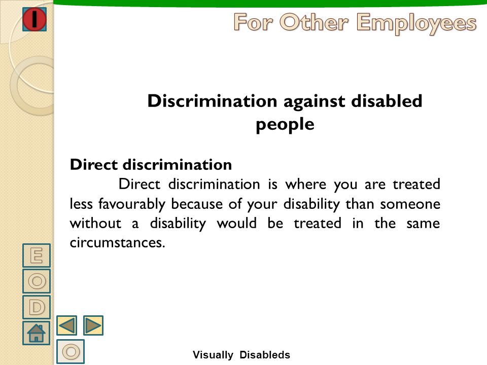 Discrimination against disabled people