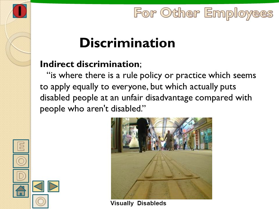For Other Employees Discrimination