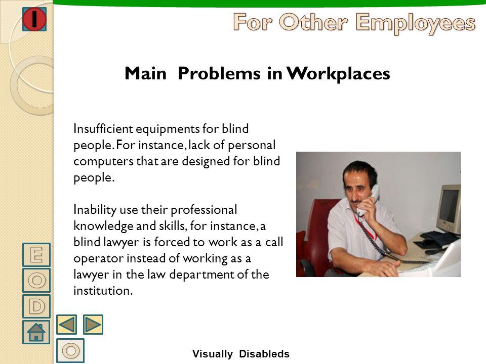 Main Problems in Workplaces