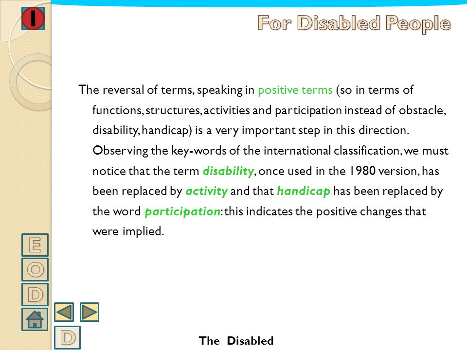 For Disabled People E O D D