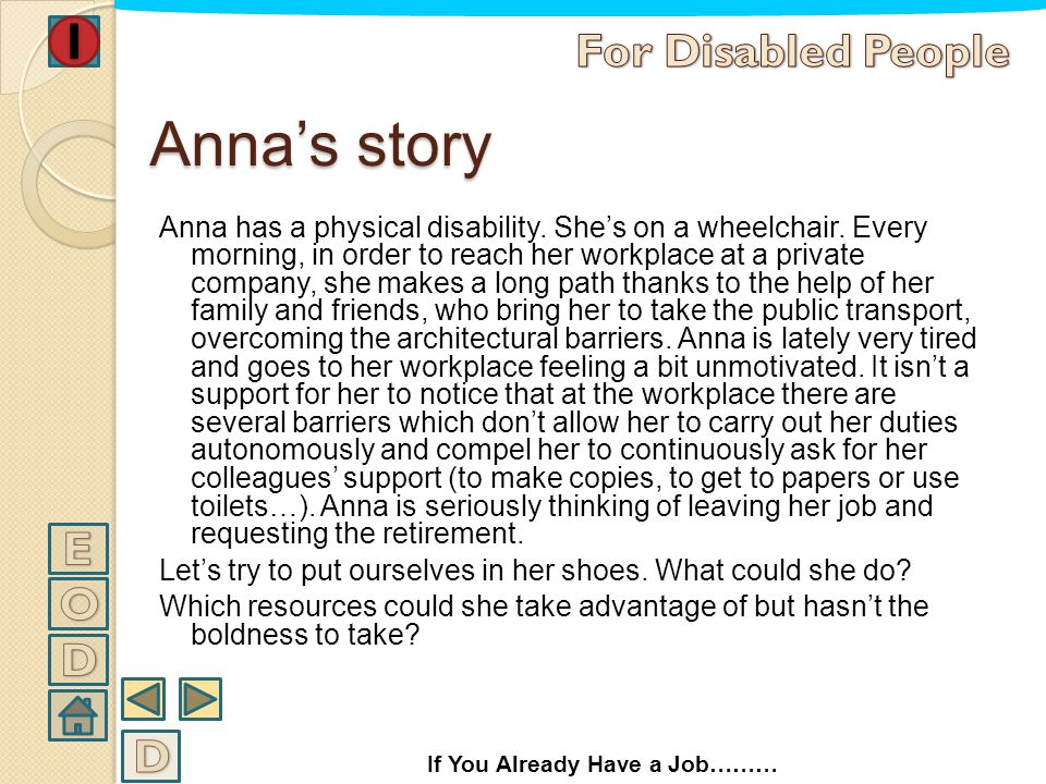 Anna's story For Disabled People E O D D