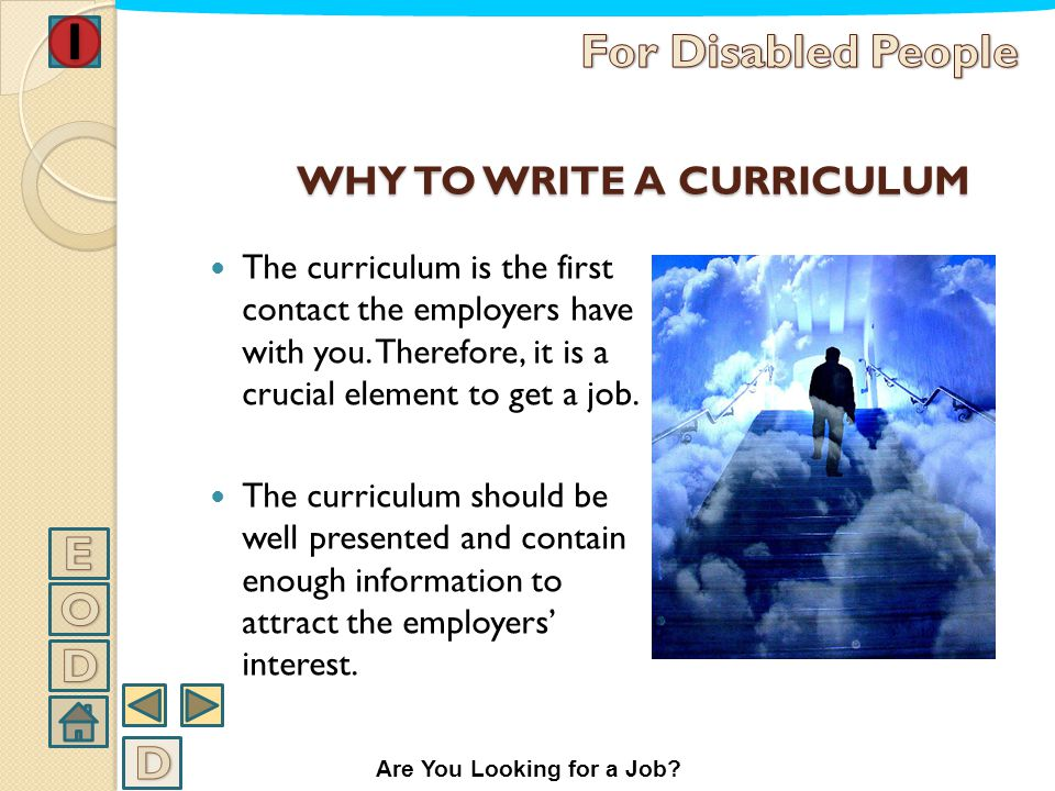 WHY TO WRITE A CURRICULUM