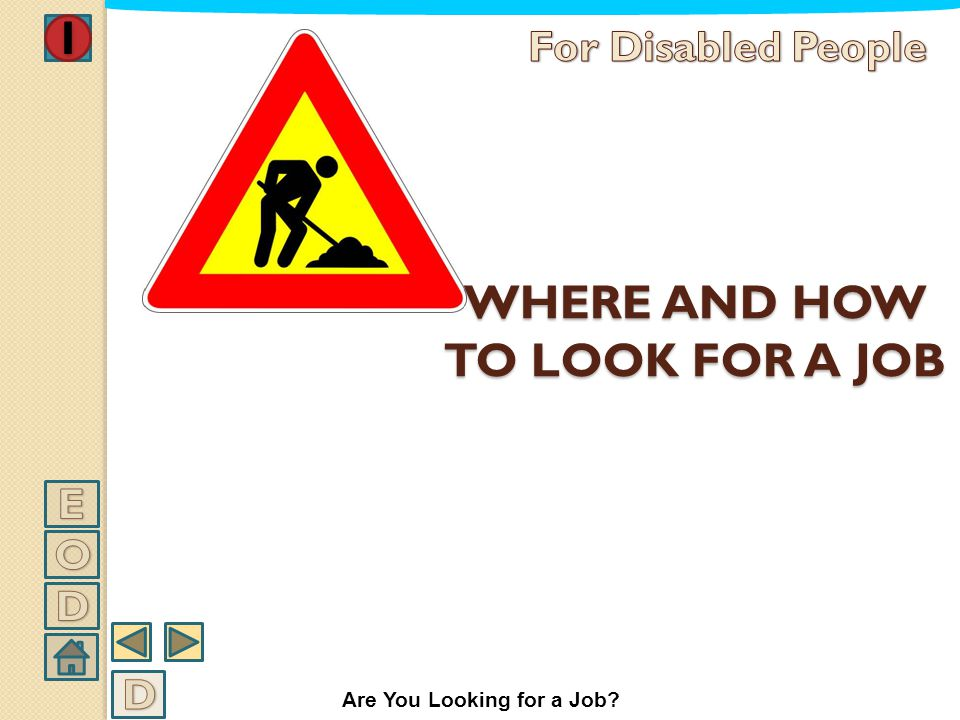 WHERE AND HOW TO LOOK FOR A JOB