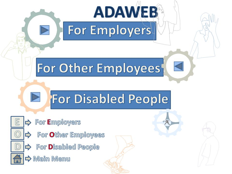 ADAWEB For Employers For Other Employees For Disabled People E O D