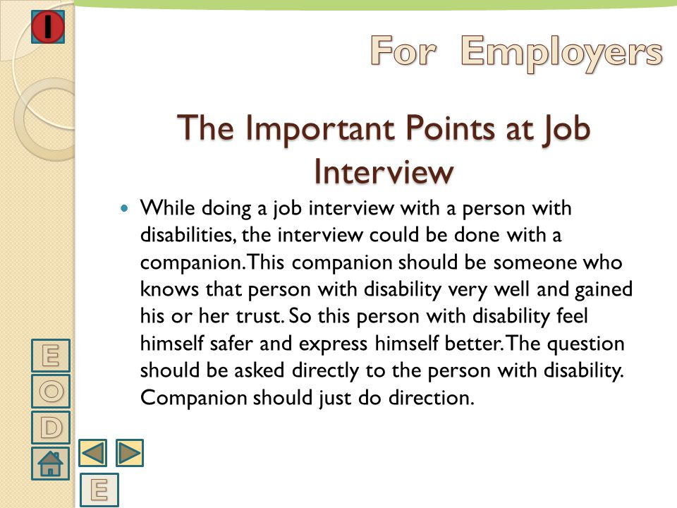 The Important Points at Job Interview