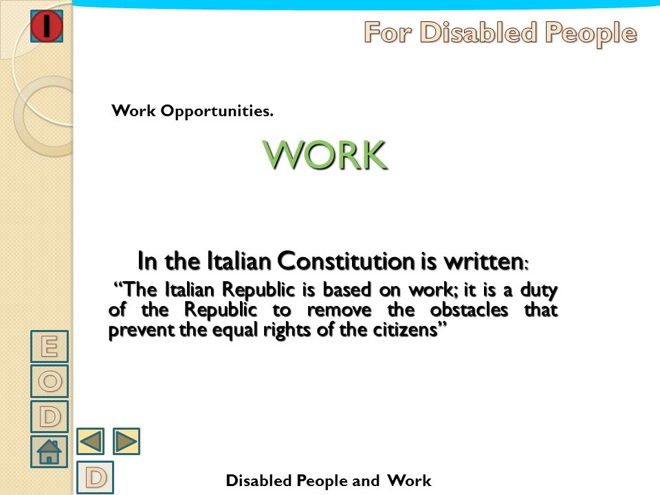 In the Italian Constitution is written: