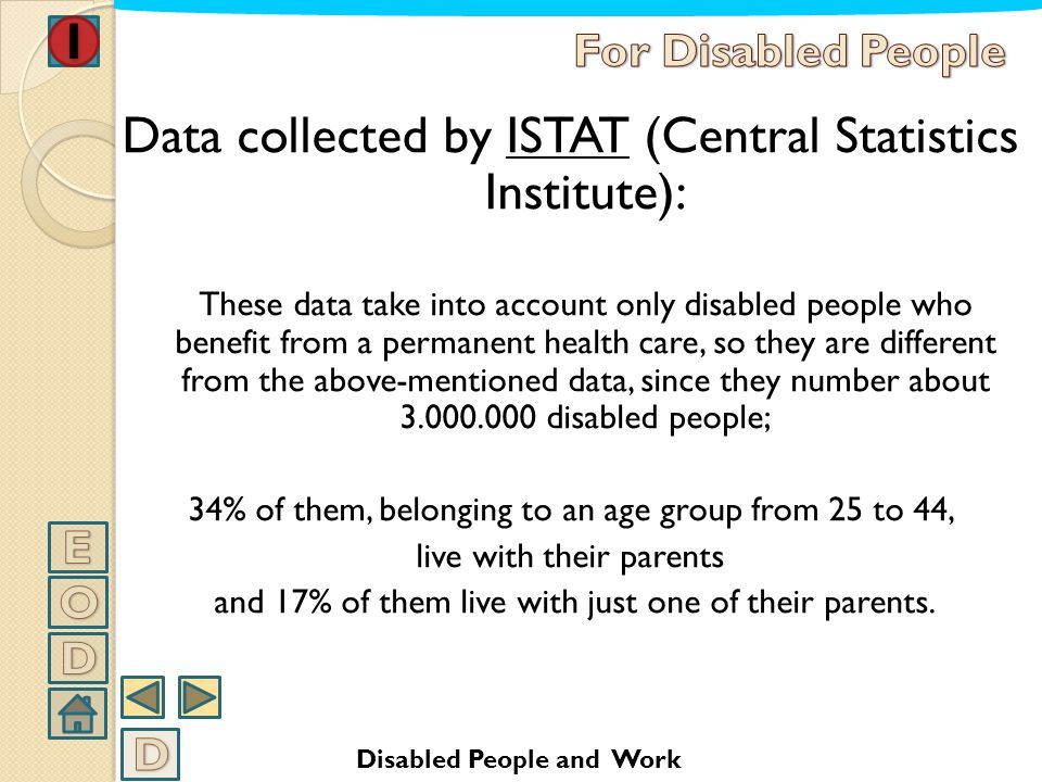 Data collected by ISTAT (Central Statistics Institute):