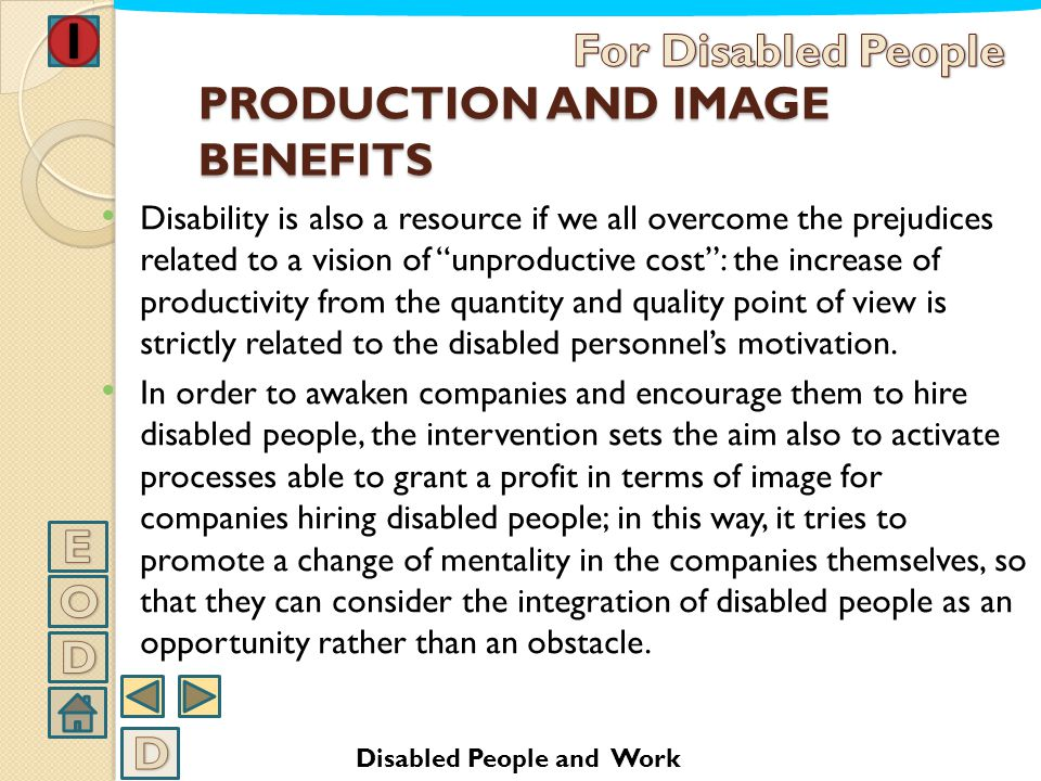 PRODUCTION AND IMAGE BENEFITS