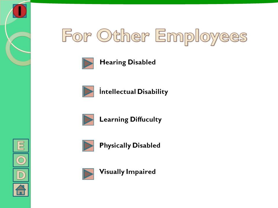 For Other Employees E O D Hearing Disabled İntellectual Disability