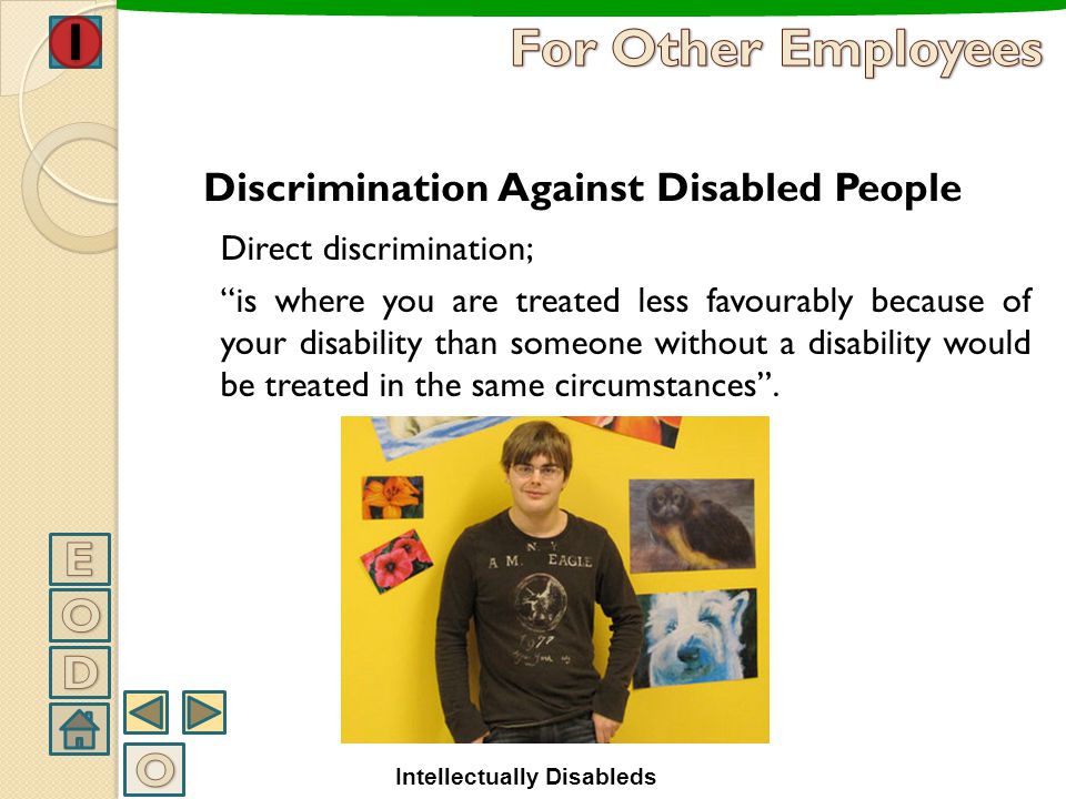 For Other Employees E O D O Discrimination Against Disabled People