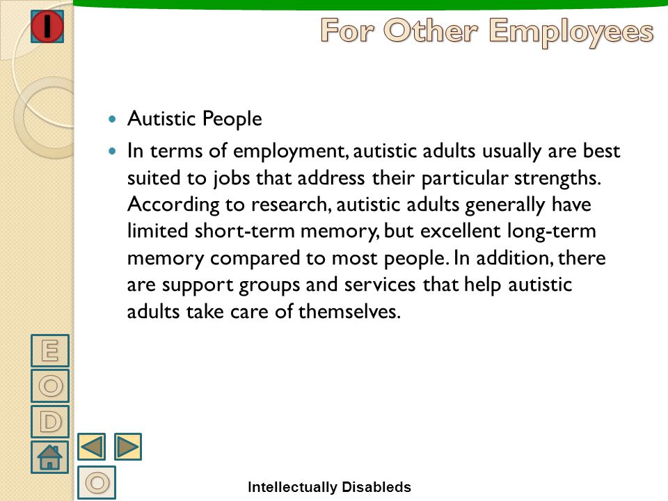 For Other Employees E O D O Autistic People