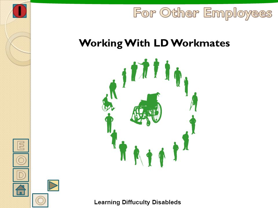 For Other Employees E O D O Working With LD Workmates