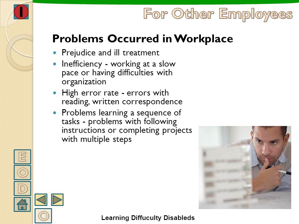 For Other Employees E O D O Problems Occurred in Workplace