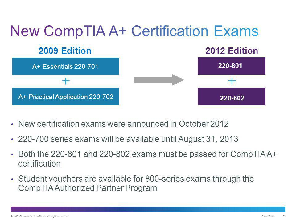 New CompTIA A+ Certification Exams
