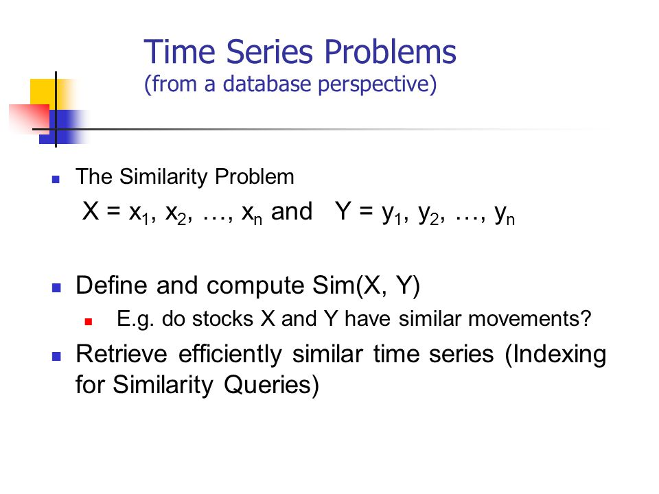 Time Series Problems (from a database perspective)