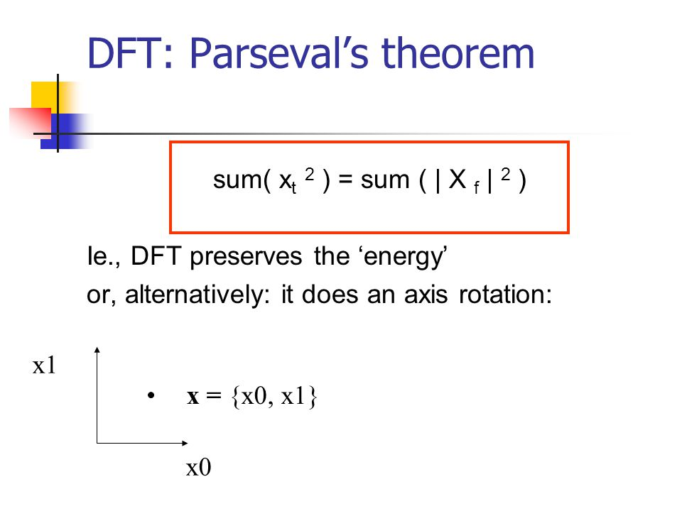 DFT: Parseval's theorem