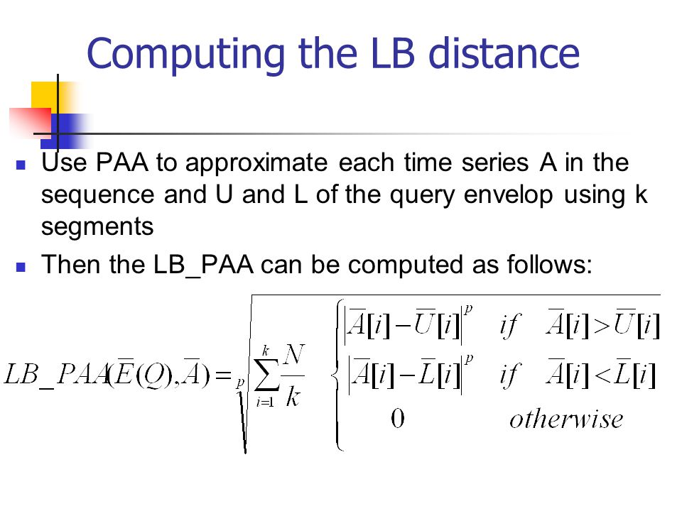 Computing the LB distance