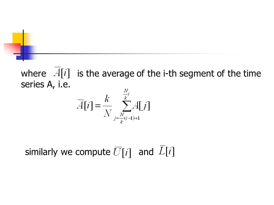 where is the average of the i-th segment of the time