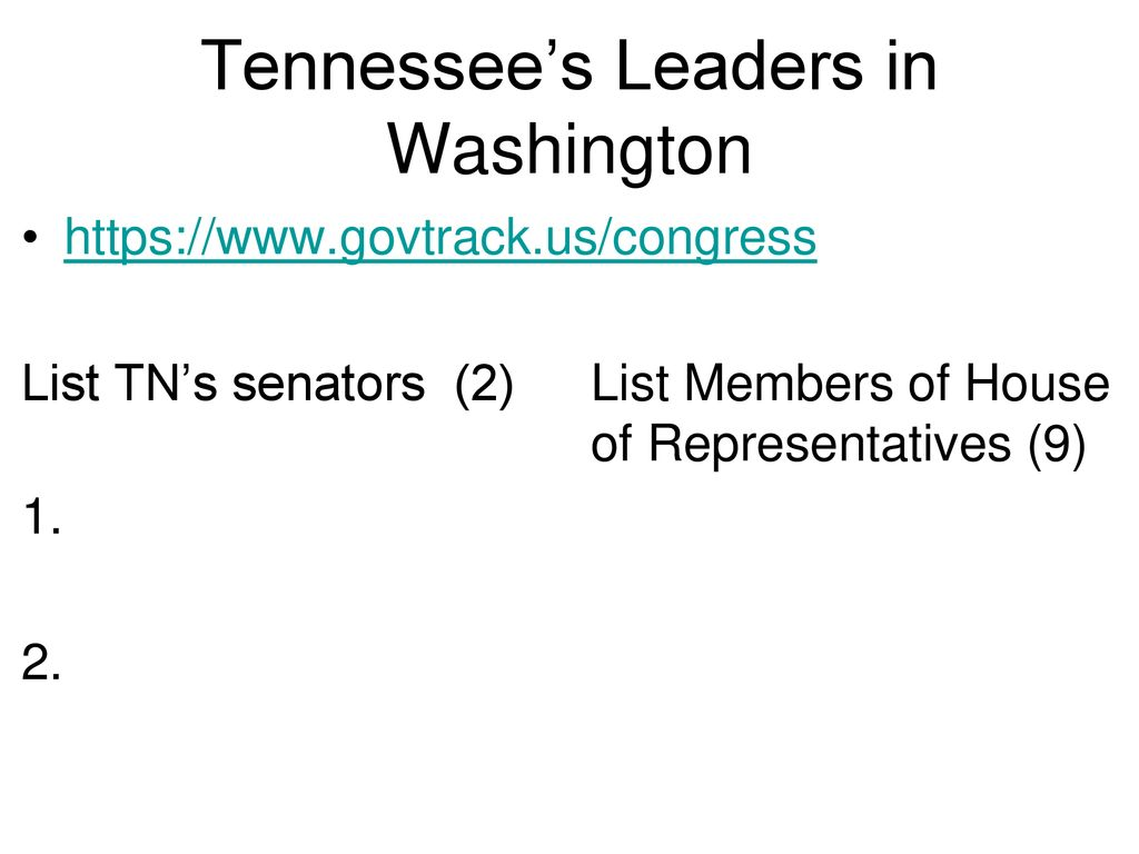 Tennessee's Leaders in Washington