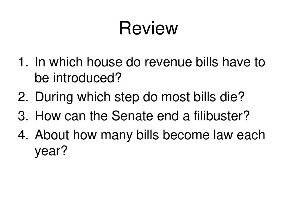 Review In which house do revenue bills have to be introduced