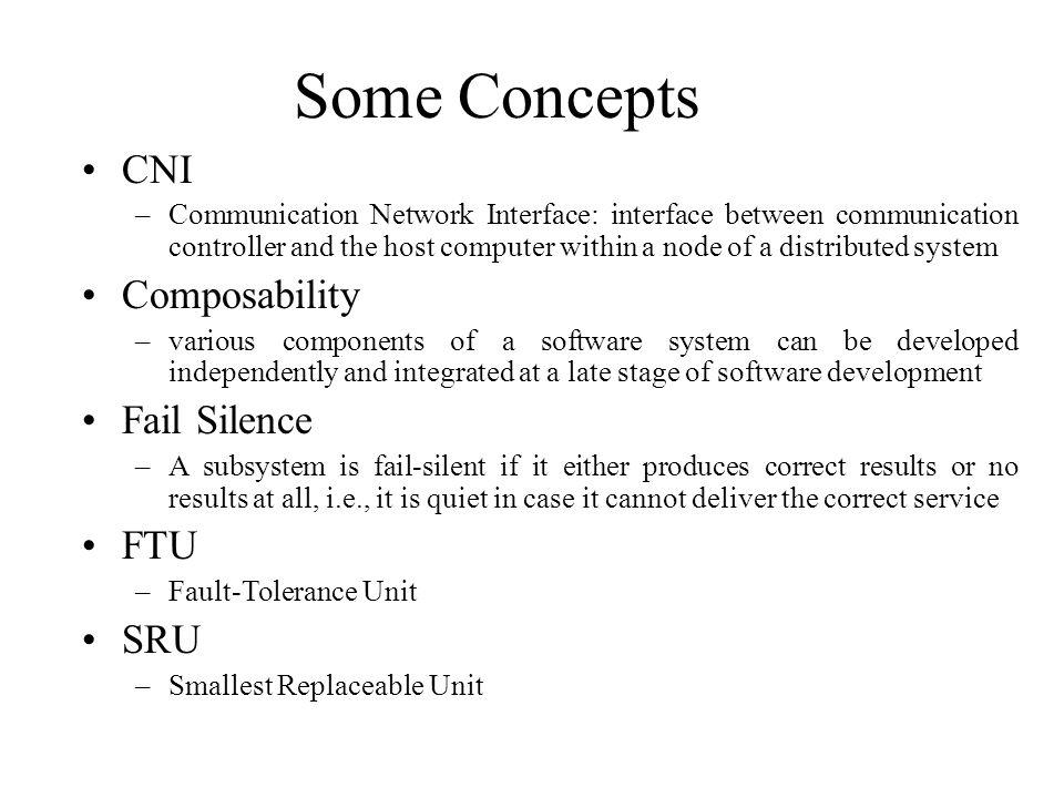 Some Concepts CNI Composability Fail Silence FTU SRU