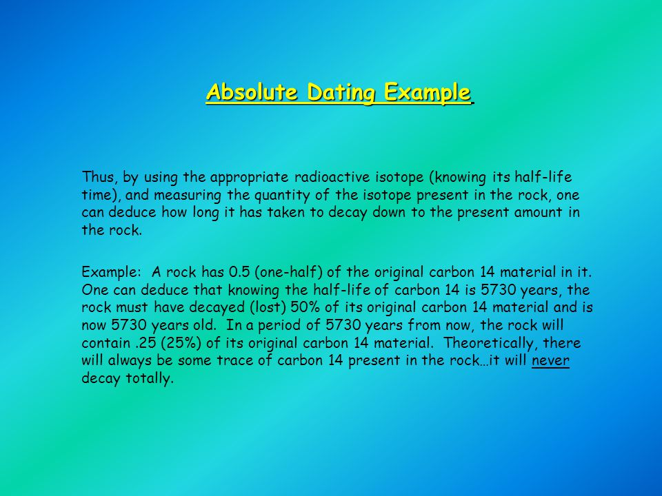 Absolute dating half-lives STL Myseum