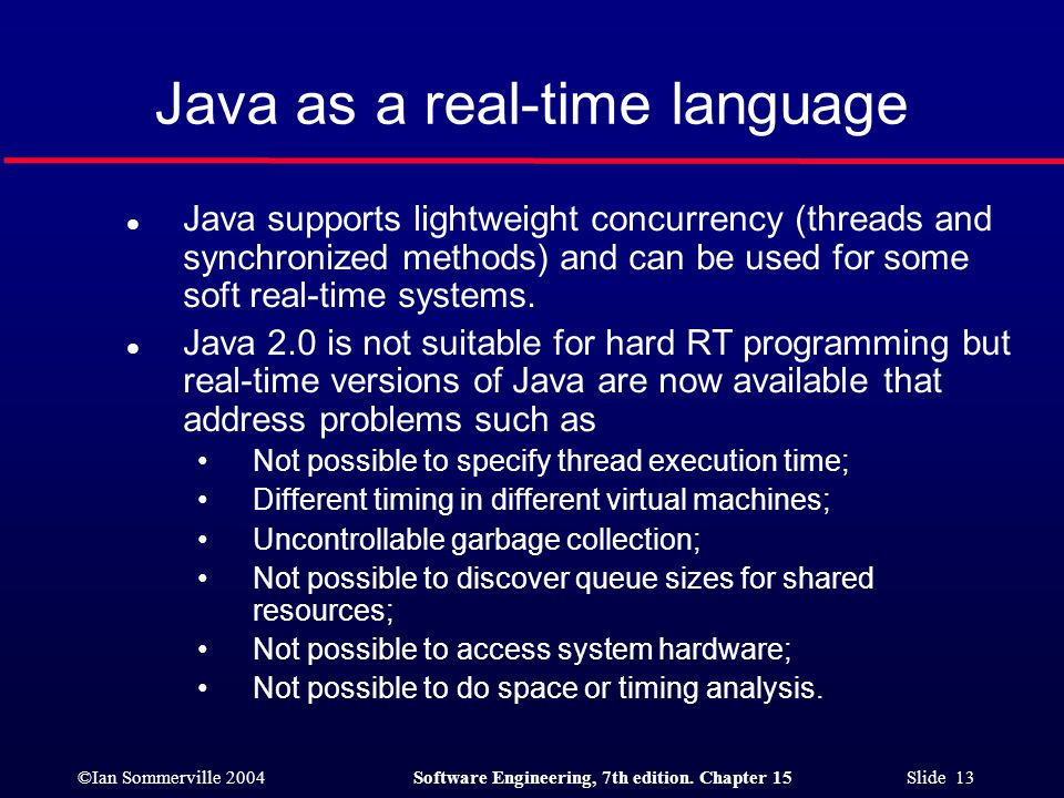 Java as a real-time language