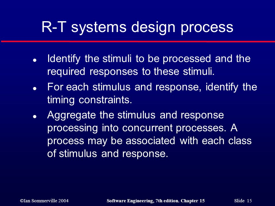 R-T systems design process