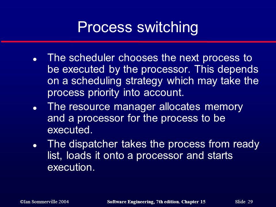 Process switching