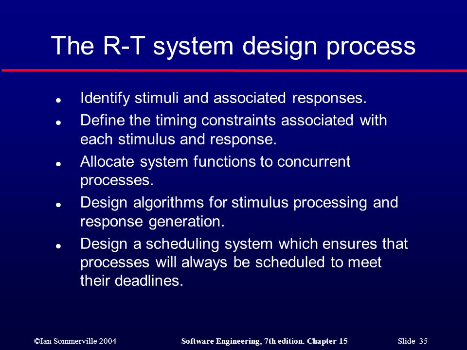The R-T system design process