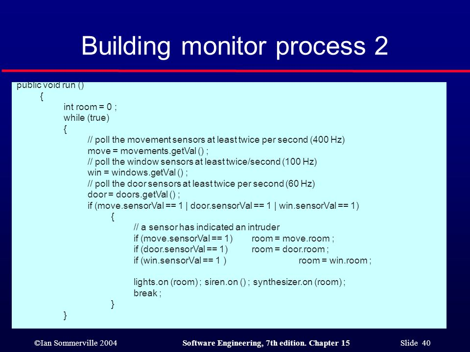Building monitor process 2